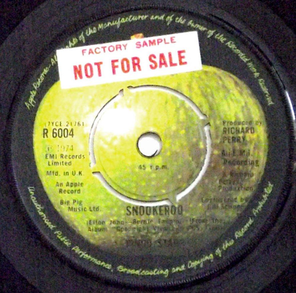 Ringo Starr Snookeroo & OO-Wee Factory Sample Single Apple R6004 1974