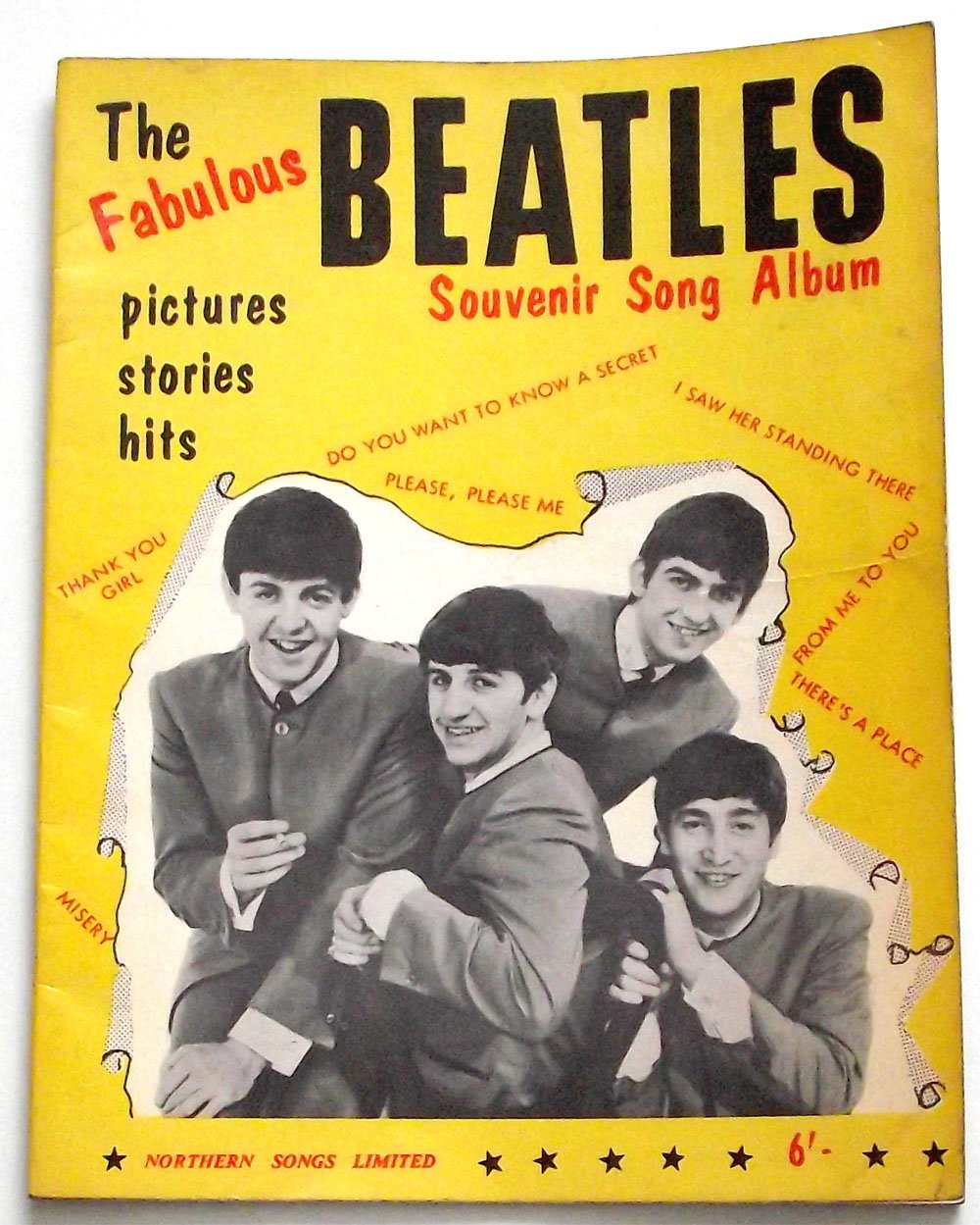 The Fabulous Beatles Souvenir Song Album Numbers 1 and 2 1963 � 1964
