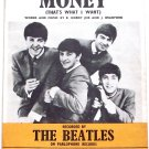 The Beatles Money (That's What I Want) Sheet Music 1963