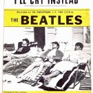 The Beatles I'll Cry Instead Sheet Music 1964