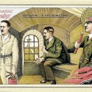 Adolf Hitler World War II Humorous Cartoon Postcard Circa 1940's