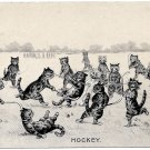 Louis Wain Hockey Cats Postcard 1904