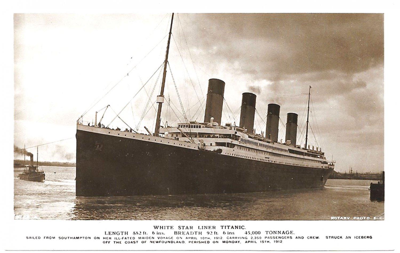 Titanic White Star Liner Rotary Photographic Series Postcard circa 1912