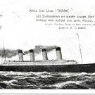 Titanic Postcard White Star National Series