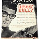 A Score of Buddy Holly Song Book 1963