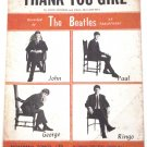 The Beatles Thank You Girl Sheet Music 1963