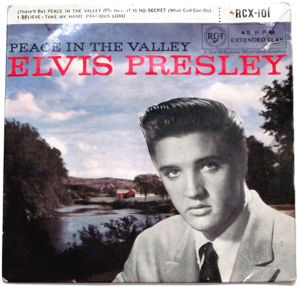 Elvis Presley Peace in the Valley EP Record 1957