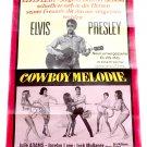 Elvis Presley Tickle Me 'Cowboy Melodie' German Film Poster 1965