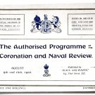 King Edward VII Authorised Programme of the Coronation and Naval Review 1902