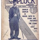The Pluck Library Film Magazine August 28 1915 Featuring Charlie Chaplin