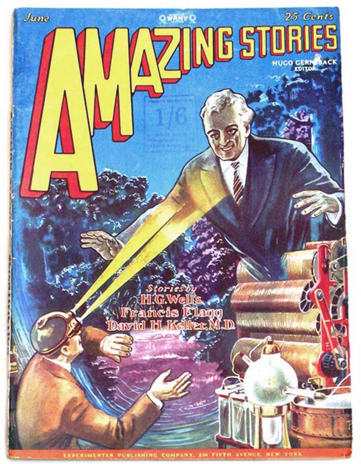H.G. Wells The Invisible Man Amazing Stories Magazine June 1928 and July 1928