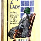 Leslie Charteris She Was a Lady Saint Book circa 1938