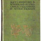 Lewis Carroll Alice's Adventures In Wonderland Illustrated by Arthur Rackham First Edition 1907