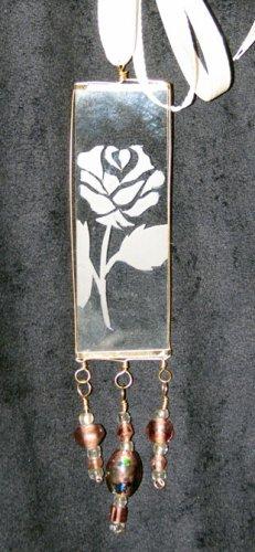 Rose Pendant (Gold/Lavender)
