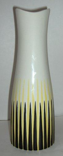 Upsala Ekeby Vase by Lansett Sweden Porcelain Op Art Mid Century