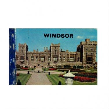 """Vtg Souvenir Windor Castle London UK 12 Glossy Color 4"""" x 3"""" Photo Picture Book"""