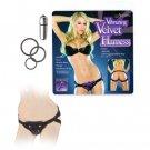 Vibrating Velvet Harness