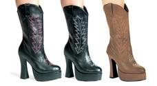 Cowgirl thick heeled boots