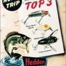 Heddon Fishing Tackle Top 3 w/ Leaping Bass TIN SIGN
