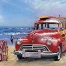 "Woody wagon - Surfin' USA TIN SIGN SIZE 16""W x 12.5""h"