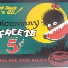 """Kendler's Ice Cream - """"The Velvet Kind"""" - Picaninny Freeze TIN SIGN"""