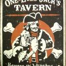 One Eyed Jack's Tavern TIN SIGN