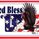 God Bless the USA Patriotic Eagle & Flag TIN SIGN