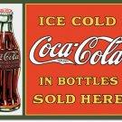 Coke Sold in Bottles TIN SIGN