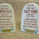 "Salt and Pepper Shakers Tombstone Arizona 3"" Tall"