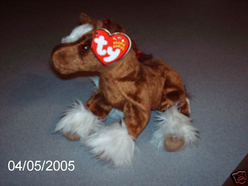 TY beanie baby HOOFER THE CLYDESDALE (horse)