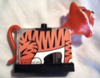 Vintage Plastic Tony The Tiger Salt & Pepper w/Napkin holder