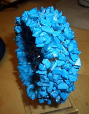GORGEOUS GENUINE BLUE TURQUOISE BRACELET