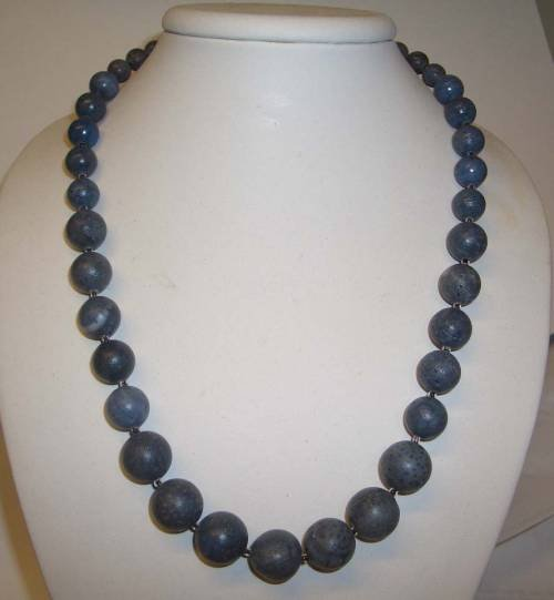 NATURAL BLUE SEA CORAL NECKLACE
