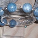 GORGEOUS GENUINE BLUE CORAL GEM BRACELET