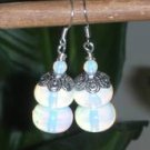 BEAUTIFUL 32.8CTW OPALITE & FIRE OPAL GEMSTONE EARRINGS*DESIGNS by STERLING GEMS JEWELRY*