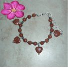 My Heart Charm Sunsitara Goldstone  Bracelet