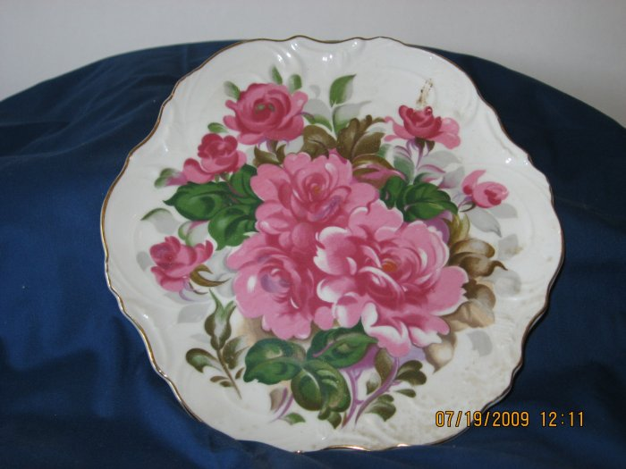 Decrotive flower plate