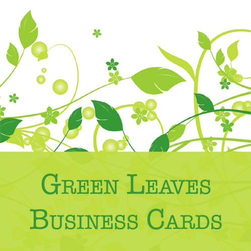 250 Green Leaves Business Cards
