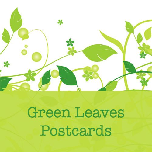 250 Green Leaves Standard Postcards