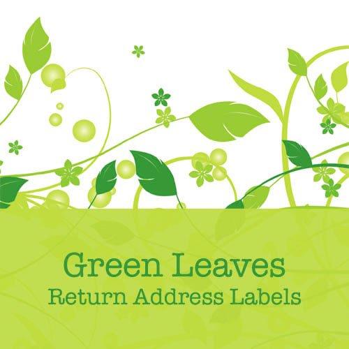 280 Green Leaves Return Address Labels