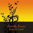 250 Butterfly Sunrise Business Cards