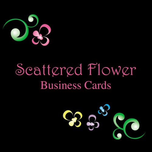 250 Scattered Flower Two-Sided Business Cards