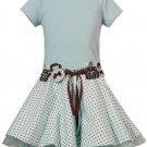 Rare Editions Aqua Short Sleeve Dress Sz 8 NWT
