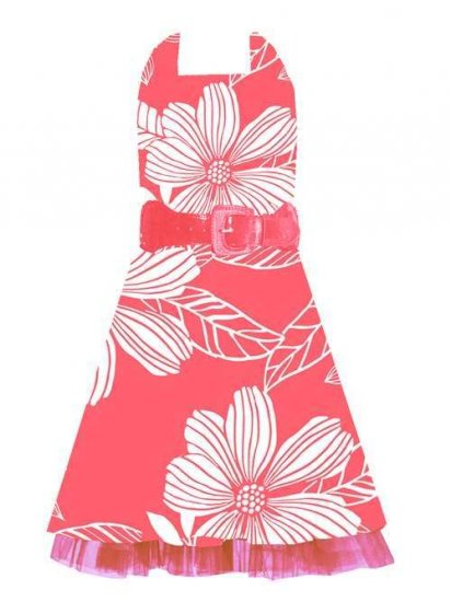 Rare Editions Coral Halter Dress Sz 8 NWT