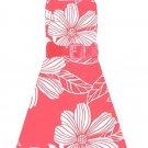 Rare Editions Coral Halter Dress Sz 12 NWT