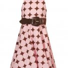 Rare Editions Pink and Brown Halter Dress Sz 7 NWT