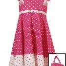 Rare Editions Fuschia Dress with Purse Sz 6X-NWT