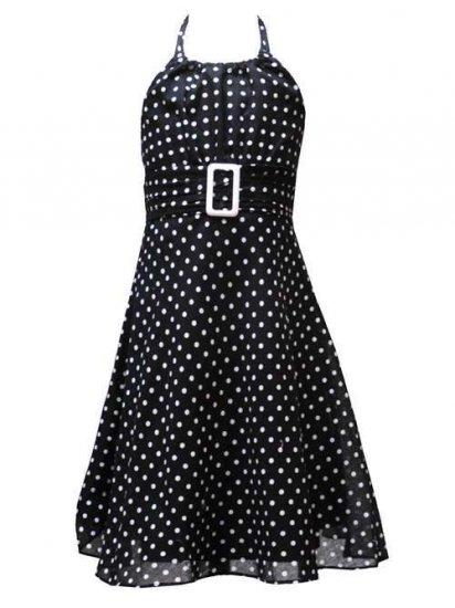 Rare Editions Black and White Halter Dress-Sz 6-NWT
