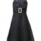 Rare Editions Black and White Halter Dress-Sz 6X-NWT