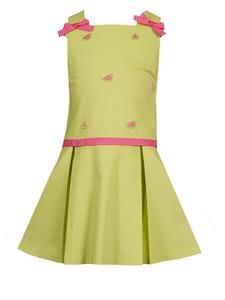 Rare Editions Watermelon Pleated Dress  Size 6X